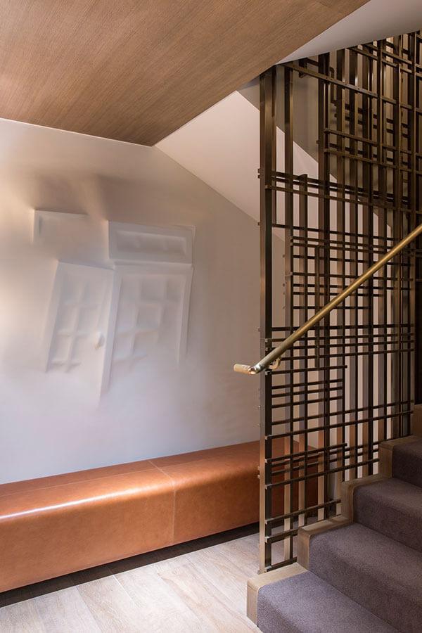 Bronze stair screen