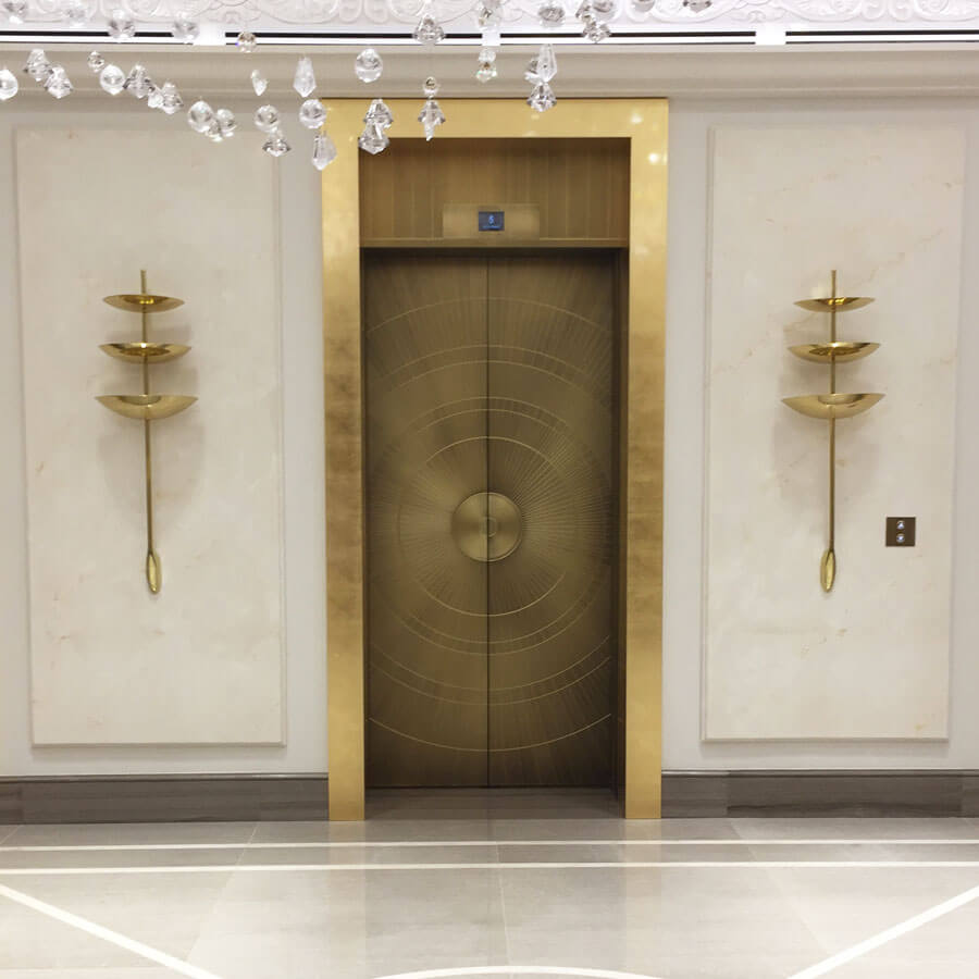 Decorative lift doors