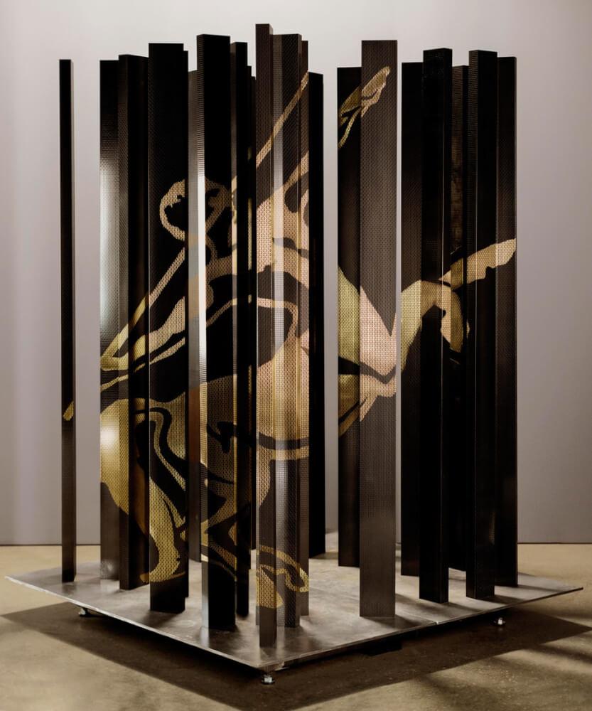 Anamorphosis sculpture