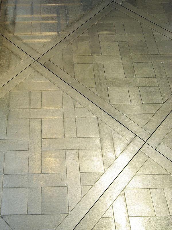 Metal flooring - Detail