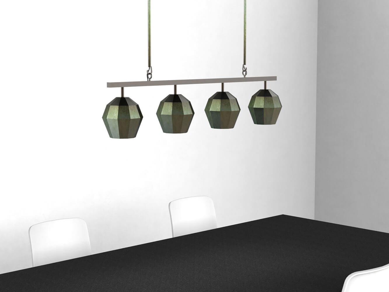 Suspension 4 luminaires