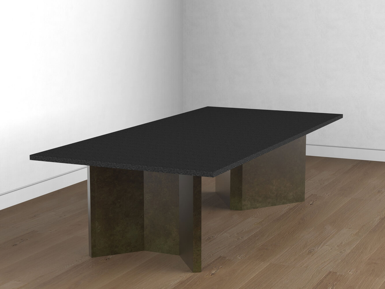 Brass patinated table